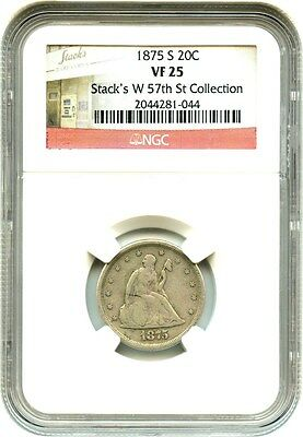 1875-S 20c NGC VF25 - Popular Type Coin - 20-Cent Piece - Popular Type Coin