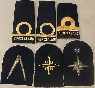 """Royal NEW ZEALAND NAVY insignia Small collection of 6 ALL badges sold as 1 """"Lot"""""""