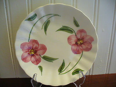 "Blue Ridge Southern Pottery Pink Rose 6.25"" Plate"