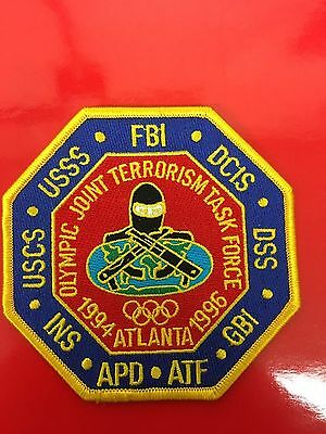 1994-1996 Atlanta Olympic Joint Terrorism Force  Shoulder Patch