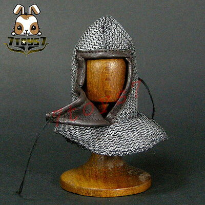 ACI Toys 1/6 ACI-24C Templar Knight Banner Holder_ Chain Mail Coif _Now AT081D
