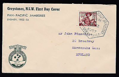 1952 Australia Pan Pacific Scout Jamboree GREYSTANES NSW Cover Special Frank