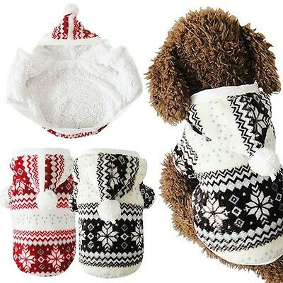 Fashion Warm Winter Hoodie Jumpsuit Coat Clothes Costume For Pet Dog Puppy Cat