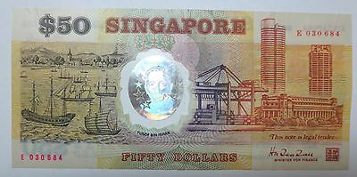 Singapore $50 polymer Commemorative banknote 1990, SG25 SG50, Fifty Dollars note