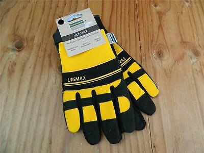 Town & Country Ultimax Medium Mens Gardening Work Gloves size 8-9 yellow & Black