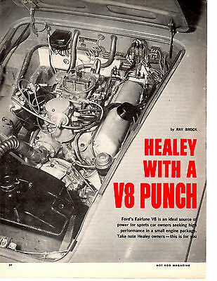 1963 Austin Healey W/ford Fairlane 260 V8  ~  Nice Original 4-Page Article / Ad