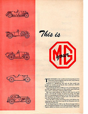 1956 Mg - Thirty Three Years Of History ~ Original 11-Page Article