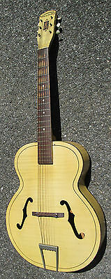 Vintage '50s Harmony Blond Deco Pinstripe ARCHTOP GUITAR ! GOOD POTENTIAL!
