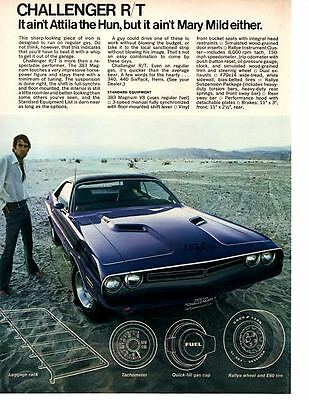 1971 Dodge Challenger R/t / 340, 440-6 Or Hemi ~ Original Muscle Car Ad