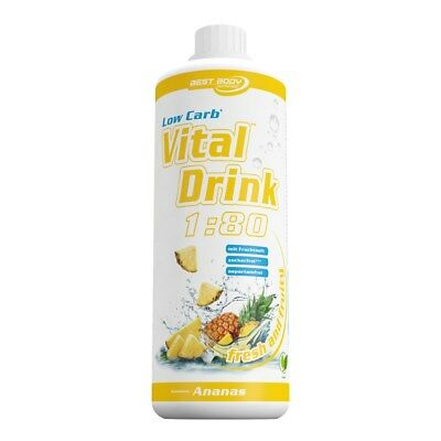 Best Body Nutrition Low Carb Vital Mineral Drink 1L Ananas Sirup L-Carnitin