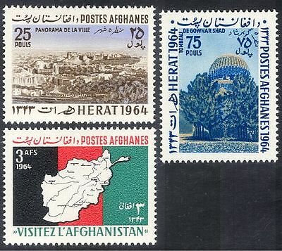 Afghanistan 1964 Tourism/Maps/Buildings 3v set (n29369)