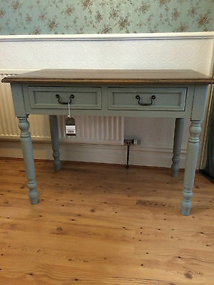 Lyon Shabby Chic French grey console table dressing table desk with drawers