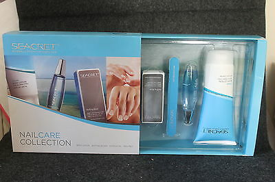 """Unused In Box Seacret Nail Care Collection Set  9"""" X 5 1/2"""" X 2 1/4"""" Complete"""