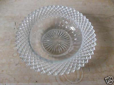 Anchor Hocking Miss America Clear Depression Glass Cereal Bowl