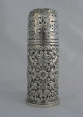 Stunning Victorian Repousse Silver Lighthouse Sugar Caster London Woodward & Co.