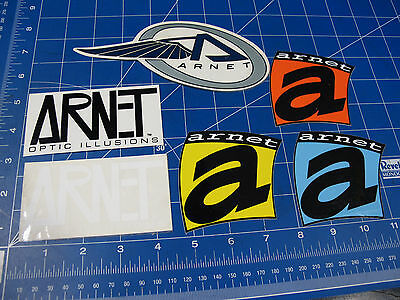 Vintage* 1990's Arnet Optic Illusions Surf Snow sticker lot of 6