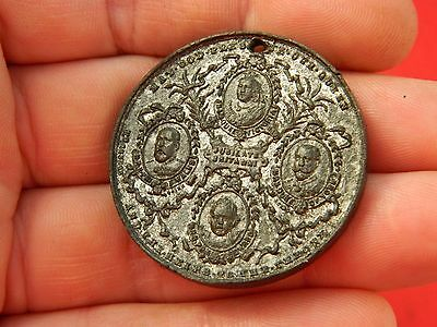 Un researched Vintage Victorian pewter medallion  Metal detecting detector