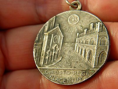 Un researched Vintage religious medallion IHS church Metal detecting detector