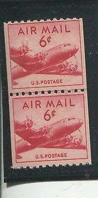 U.S. Stamps Scott #C41 Line Pair,MINT,NH,Fine+ (A1172N)