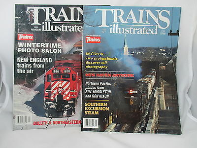 Two 1990 Usa Magazines Trains Illustrated