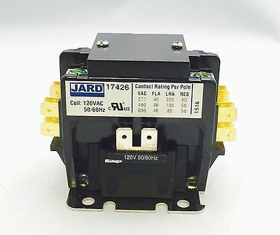 New 40 amp 2 pole 120v coil Definite Purpose Contactor Relay FREE SHIPPING