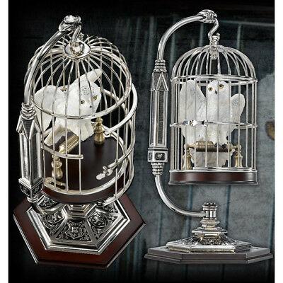 Harry Potter Official Collectors Rare Hedwig Snowy Owl Pedestal Display Cage