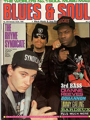 Ice T on Blues & Soul Cover 1990  The Supremes  3rd Bass  Bohannon Dianne Reeves