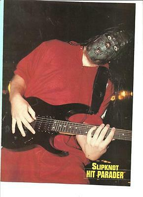 Slipknot, Mick Thomson, Clown, Double Sided Full Page Pinup