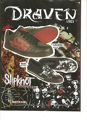 Slipknot, Draven Shoes, Full Page Promotional Ad