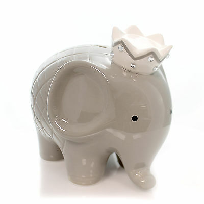 Bank GRAY COCO ELEPHANT BANK Ceramic Baby Hand Painted 3780Gy