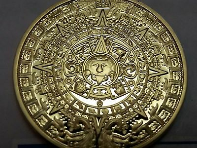 Prophecy Of The Mayan Aztec Long-Count Calendar Commemorative Coin Souvenir UK