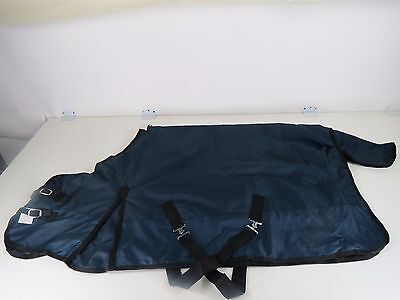 PONY- 1200-D Turnout Waterproof RIP STOP Horse WINTER BLANKET HEAVY NAVY 60""