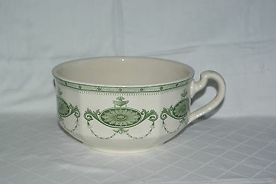Antique Mintons Leipzig Green Transfer Printed Chamber Pot