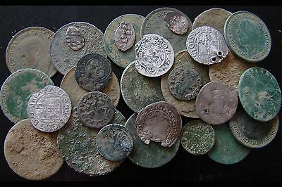 30 Old Coins - metal detecting finds
