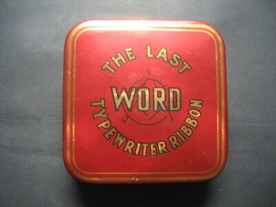 Caja Metal Cinta Maquina de Escribir THE LAST WORD. Typewriter, Ruban, Ribbon