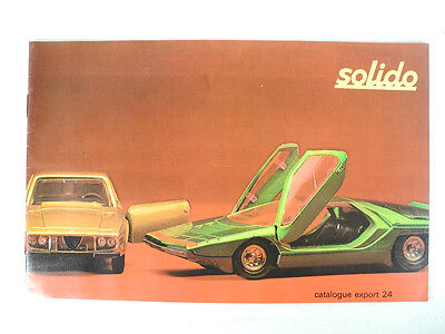 Vintage SOLIDO Toy Car Catalog France Catalogue Export 24 Solijouets
