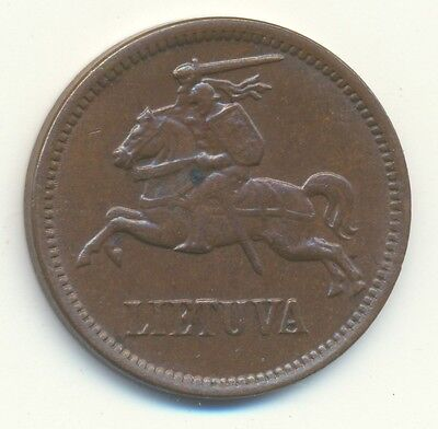 Lithuania 1936 5 Centai KM#81 About Uncirculated