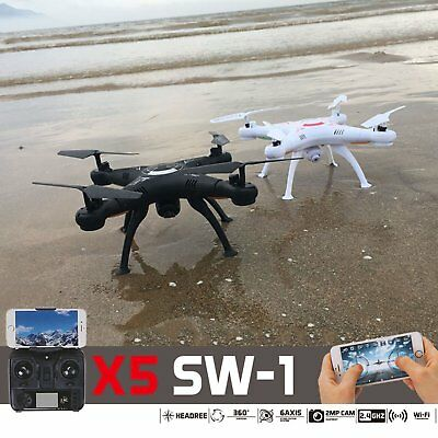 X5SW-1 New White Wifi FPV Camera Drone 2.4Ghz RTF 4CH RC with 0.3MP Quadcopter