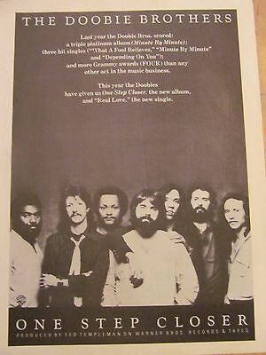 The Doobie Brothers, One Step Closer, Full Page Vintage Promotional Ad