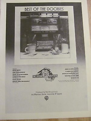 The Doobie Brothers, Best of the Doobies, Full Page Vintage Promotional Ad