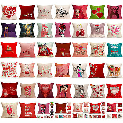 Lovers Painting Cushion Cover Throw Waist Pillow Case Sofa Bed Room Home Decor