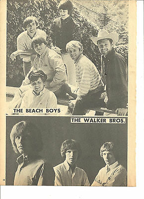 The Beach Boys, The Walker Brothers, Full Page Vintage Pinup