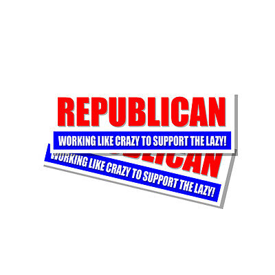 Anti Hillary Snowflake Republican Working Like Crazy Trump Sticker Decal 2 Pack