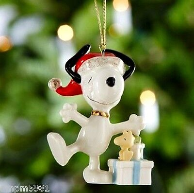 Lenox PEANUTS Christmas Morning Snoopy Ornament Woodstock NEW IN BOX