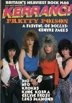Poison Dollys on Kerrang No: 121 Cover 1986