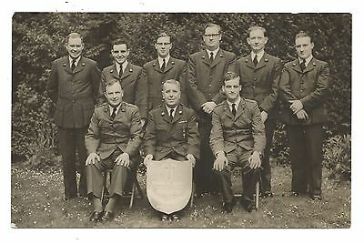 Military Group Photographic postcard - CHURCH ARMY - Brindlington - Signed