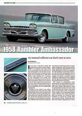 1958 Rambler Ambassador  -  Great 6-Page Article / Ad
