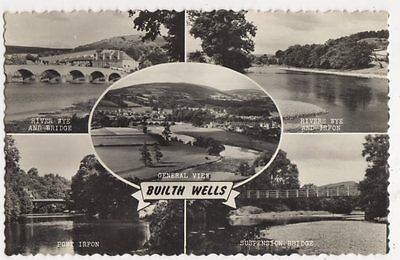 Builth Wells Multiview RP Postcard, B342