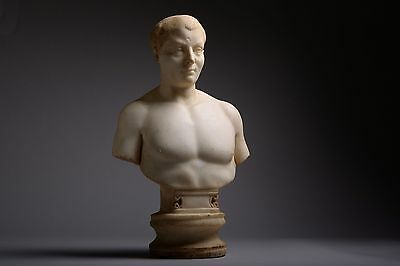 Ancient Roman Marble Portrait Bust of a Youth - 200 AD