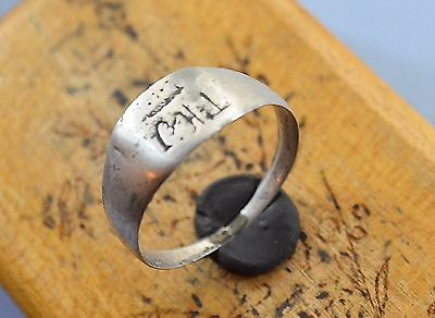 WW1 German Soldier Silver Ring with inicials